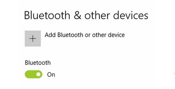 Click chọn On để bật bluetooth