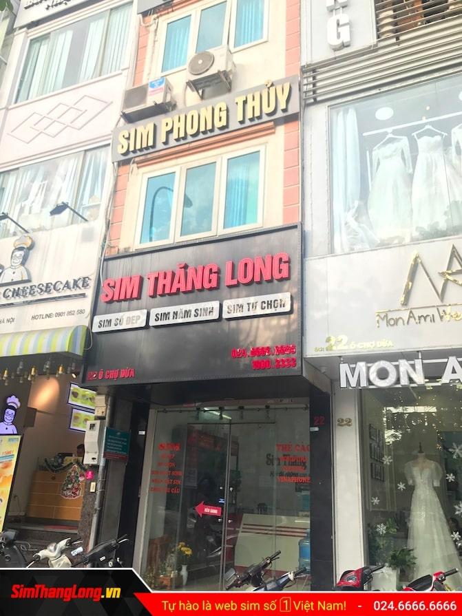 Cửa hàng SIM số đẹp Sim Thăng Long 22 Ô Chợ Dừa